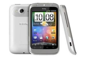 HTC WILDFIRE S BLANC UNLOCKED DEBLOQUE FIDO CHATR KOODO BELL CUBA ANDROID 4G HSPA GSM TOUCHSCREEN CAMERA 5MP BLUETOOTH