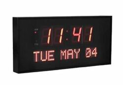 Active Living Oversized Digital Red LED Dynamic Wall Clock 16 x 7.5 inches