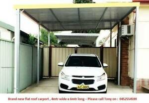 Factory moving, Flat roof carport, 6M long X 4M wide Canberra City North Canberra Preview