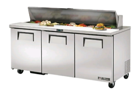 True commercial pizza topping chiller stainless steel good condition