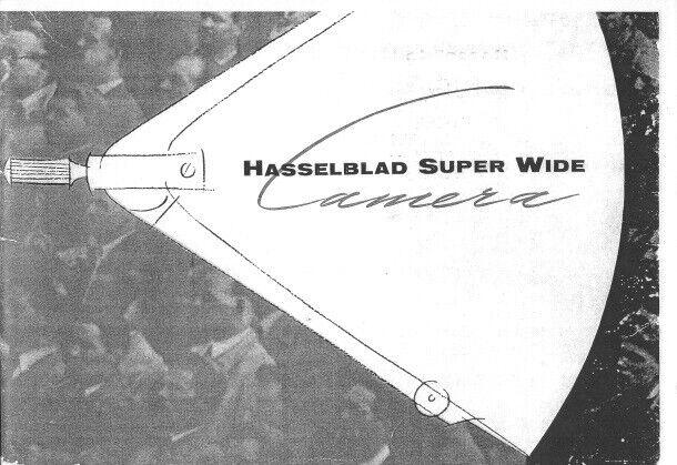 Hasselblad Super Wide Camera Instruction Manual photocopy