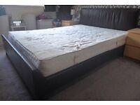 Bed frame king size & mattress