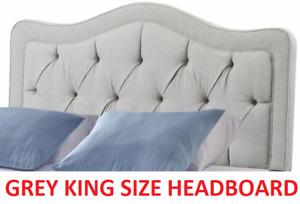 BRAND NEW Allure Diamond Tufted HEADBOARD Walden Gray KING SIZE