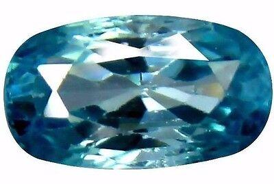 NATURAL PRETTY POOL BLUE ZIRCON LOOSE GEMSTONES (8.5 x 7.8 mm) OVAL  SHAPE