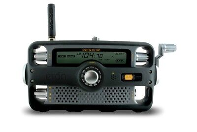 Eton FR1000 Self Powered Hand Crank AM/FM/NOAA Weather/2 Way GMRS Clock Radio