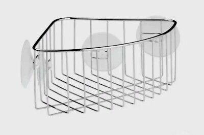 InterDesign Stainless Steel Suction Bathroom Shower Corner Caddy for soap, etc.