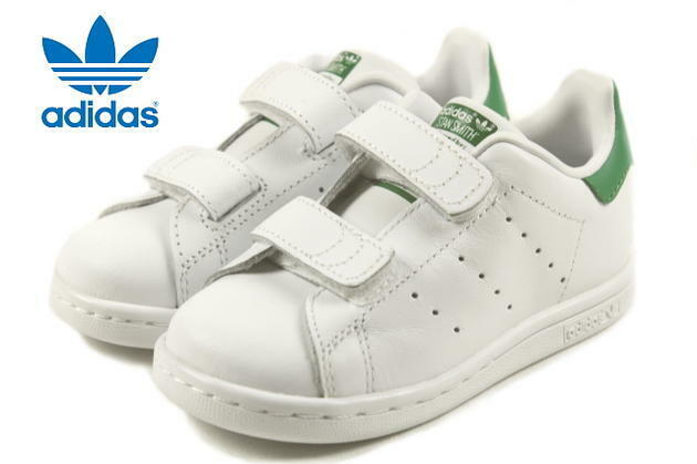 Adidas Stan Smith Unisex Infant & Toddler Tennis Shoes WHITE / GREEN M20609