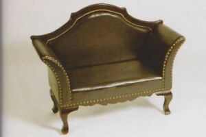NEW BENCH HALLWAY BENCH FAUX LEATHER DARK BROWN