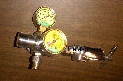 Mada Medical Oxygen Regulator Two 2 Gauges Good Condition Metal Medical Gas O2