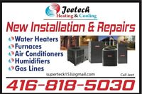 24/7 licenced Heating and cooling tech.