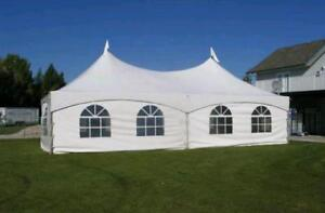 TENTS Event Tents Wedding Tents Party Tents TABLES CHAIRS Warehouse Storage Party Supplies