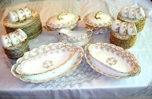 Antique Limoges Elite Dinner Set for 12 Pefect Wedding Gift