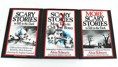 Scary Stories To Tell In The Dark Book Set Volume 1,2,3, Kids Children Books
