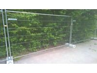 heras security mesh panels x 75 with base and couplings 3.45m x 2