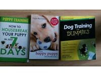 Selection of puppy training books