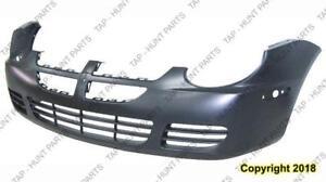 Bumper Front Blck Without Fog Light Hole Dodge Neon 2003-2005