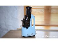 Retro Cold Press Juicer in Blue. Recommended by Jason Vale