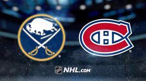 2 billets - Sabres de Buffalo vs Canadiens de Montréal