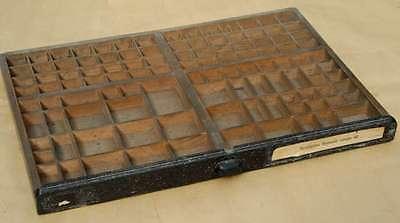 Setzkasten 64x45 cm 30er Jahre aus Druckerei vintage shabby chic Deko shadow box