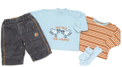 Blue Cord Langarm-shirt (BABY BLUE Cord-Hose, Pullover und HEMA Langarm-Shirt - 68)
