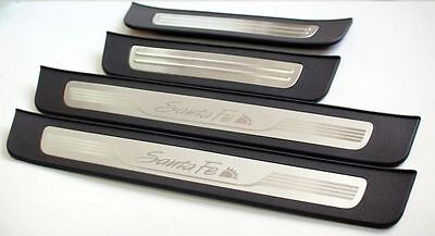 Genuine Door Step Scuff Plate 4EA 1Set For Hyundai Santa Fe 2007 2012