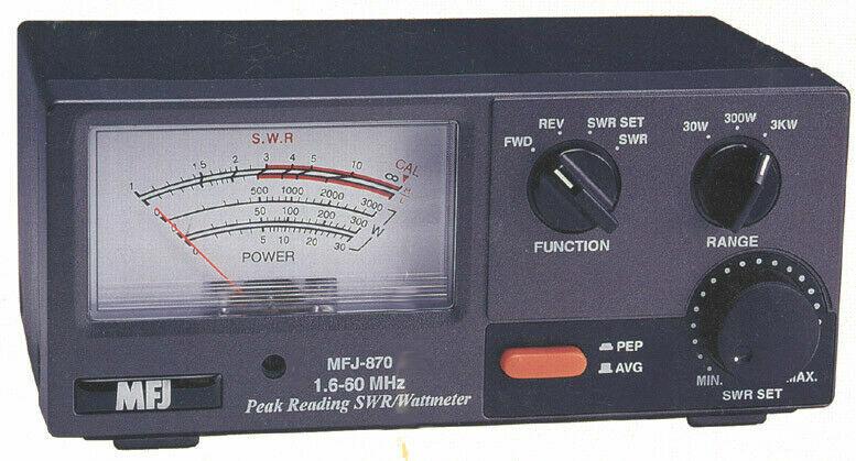 MFJ-870 Grandmaster HF SWR/Wattmeter, 1.6-60 MHz