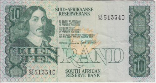 South Africa Banknote P120b-3340 10 Rand Sig 6 Fractional Serial Number, VF