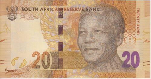 SOUTH AFRICA BANKNOTE P.134  20 RAND MANDELA- ELEPHANTS LOT OF 5 UNC