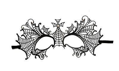Mask from Venice Gothic Swarovski Rhinestone Venetian Lace Metal Black 342