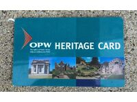 Heritage Card Ireland x 2 (RRP £80) ONLY 20 DAYS LEFT UNTIL EXPIRY