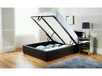 --50% OFF--DOUBLE AND SMALL DOUBLE LEATHER STORAGE BED & MATTRESS WE GOT OTTOMAN STORAGE BED AS WELL