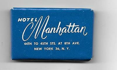 VINTAGE HOTEL MANHATTAN   NEW YORK CITY MINI-SOAP BAR Pre-1961
