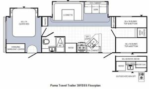 Puma FBSS travel trailer (outside kitchen+bunk room)