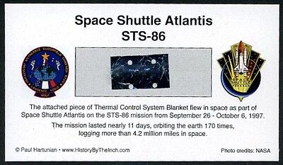 Own a Genuine Piece of Space Shuttle Atlantis - Flown in Space - For Just $9.95