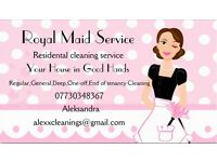 Royal Maid Cleaning Service / Regular / End of Tenancy / One-off