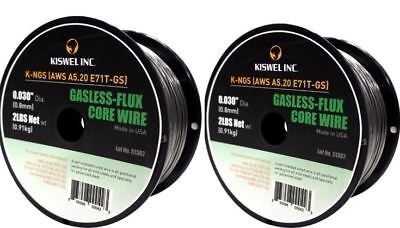 2 Rolls K-ngs E71t-gs .030 In. Dia 2lb. Gasless-flux Core Wire Welding Wire