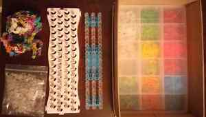 Rainbow loom, bands and storage  London Ontario image 1