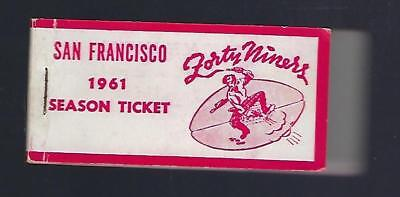 1961 Nfl San Francisco 49Ers Ticket Book From Kezar Stadium With 8 Ticket Stubs