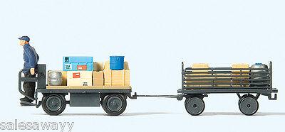 Preiser 10256 Vehículo Eléctrico Con Fahrer. Alemán Tren,Temprano Época III ,H0