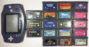 Gameboy Advance Bundle, GBA system - 18 GBA Games