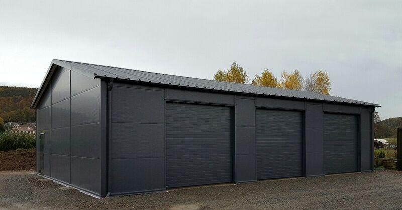 Isolierte Stahlhalle/ Garage 10 x 14 x 3,2/ 4,2 m  NEU!!