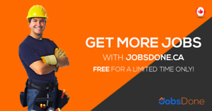 Contractors & Sub-Contractors Needed, Visit www.JobsDone.ca