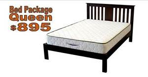 Queen Bed & Mattress Yarrawonga Palmerston Area Preview