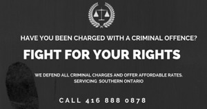 TORONTO CRIMINAL LAWYERS - 416 888 0878 - CONSULTATIONS ARE FREE