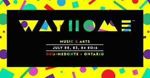 2 WayHome 3 Day Passes & Campsite For Sale