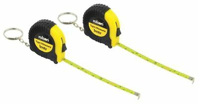 2 x 1M KEY RING POCKET TAPE MEASURE Portable Metric Imperial Small Mini 50562