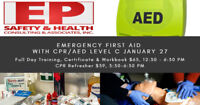 Emergency First Aid with CPR/AED Level C Training January 27