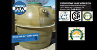 "PYW - ""Drop and Go"" Fiberglass Septic tanks"