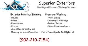 Superior Exteriors Paint and Pressure washing services