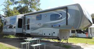 Beautiful 41 ft. Open Range 3X379 RLS fifth wheel
